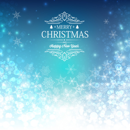 Merry christmas design concept in the hand realistic style. Vector Illustration, eps10, contains transparencies.