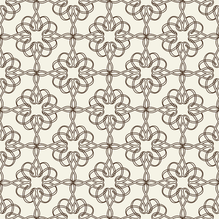 Lacy seamless pattern on floral theme in monochrome hand drawn doodle design Ilustração