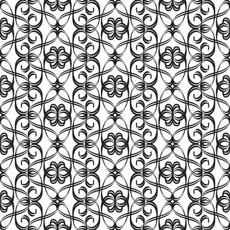 Abstract monochrome ornate seamless pattern with elegant beautiful repeating structure in minimalistic style vector illustration Stock Vector - 126238116