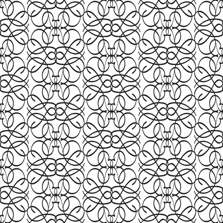 Abstract minimalistic graphic design seamless pattern with repeating ornate structure in monochrome style vector illustration Stock Vector - 125851828