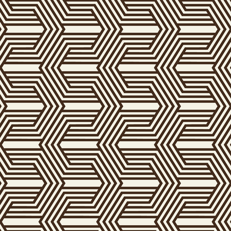 Abstract monochrome vintage seamless pattern with repeating geometric traceries consisting of lines in minimalistic style vector illustration