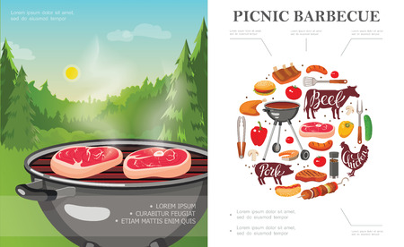 Flat weekend picnic