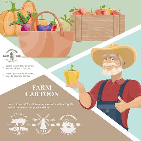 Cartoon farming template