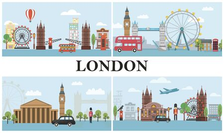 Travel To London composition Illustration