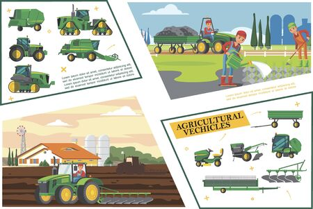 Agricoltura piatta e composizione agricola