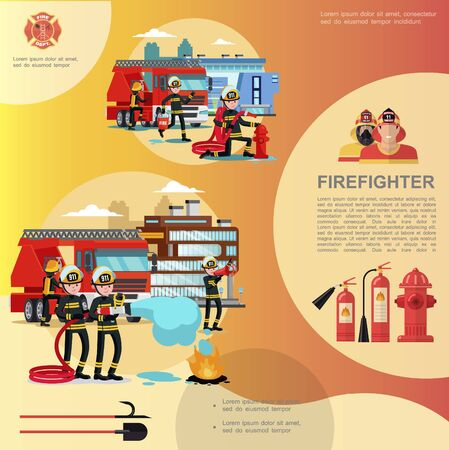 Flat firefighting template