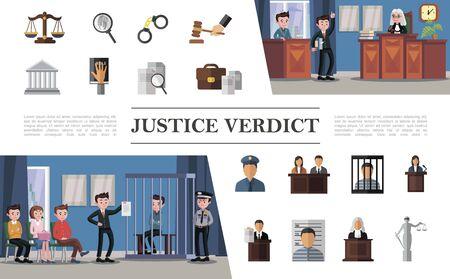 Composition du système de droit plat avec avocat du défendeur