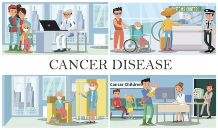 Childhood cancer disease composition with people visiting doctors