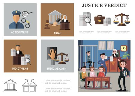 Flat judicial system composition with policeman