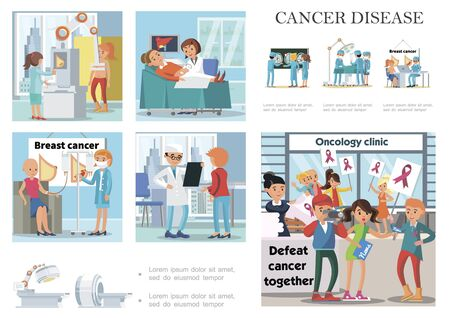 Flat people and cancer disease composition