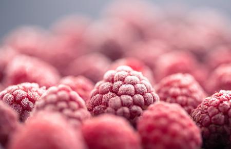 冷凍ラズベリー 写真素材