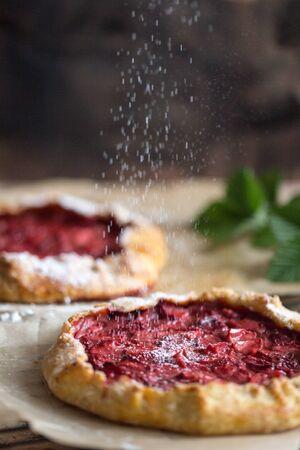 Strawberry galette, homemade bakery, pastry, summer dessert