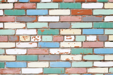imaginativeness: Colored brick wall. Street art. Background