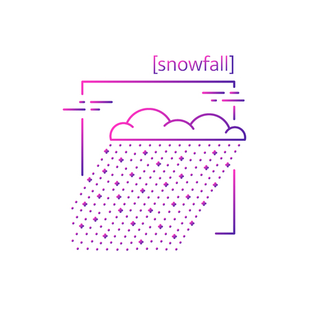 line vector icons with symbol weather. Isolated snow icon. Snowy weather, snowing. Suitable for website design and mobile app