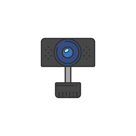 shadowing: Isolated vector Webcam Icon. Web camera flat icon for infographic, website or app. Chat sign.
