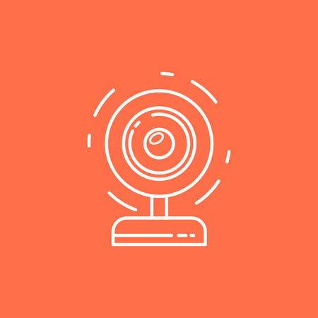 Isolated vector Webcam Icon. Web camera line icon for infographic, website or app. Chat sign.