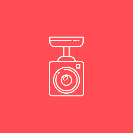shadowing: Surveillance Camera vector line icon. Sign for infographic, website or app. Illustration