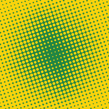Background Halftone Circle Vector Yellow Dots On Green Effect Comic Book