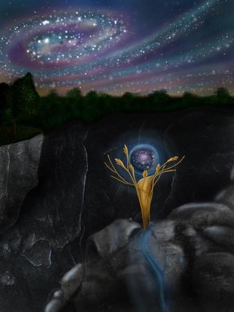 magic sphere and sky
