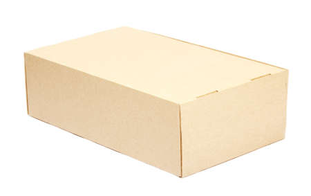 parsel: Cardboard box on white background