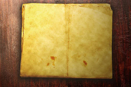 lacquered: Vintage background. A piece of old paper on vintage lacquered wooden surface. Stock Photo