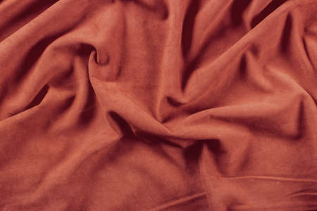 Texture of colored crumpled leather photo