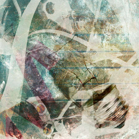 electric material: Abstract background.  Double exposure Stock Photo