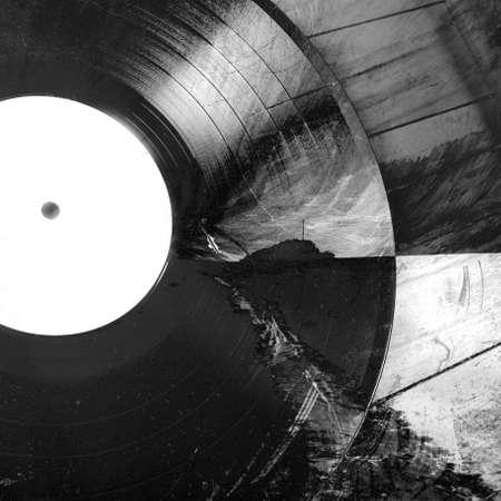 hi fi: Abstract music background - vinyl on grunge background