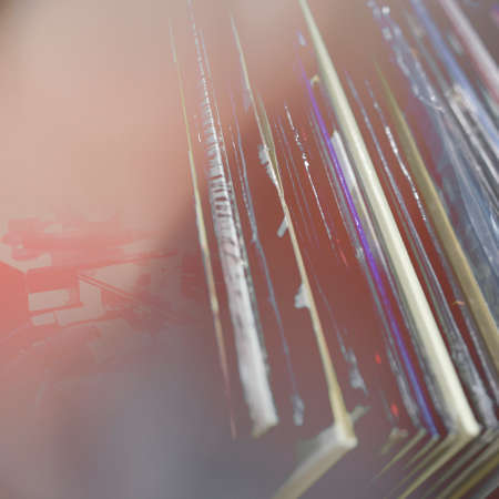 Abstract music background - vynil and turntable