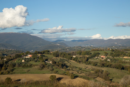 rieti: Hills of Sabina, Italy. Stock Photo