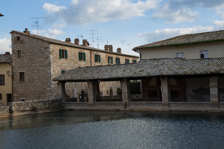 medieval medicine: The ancient baths of Bagno Vignoni Tuscany