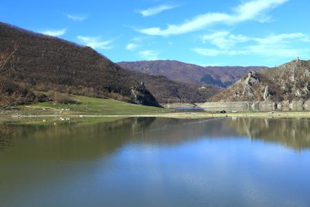 rieti: View of lago del Turano in province of Rieti, Lazio, Italy