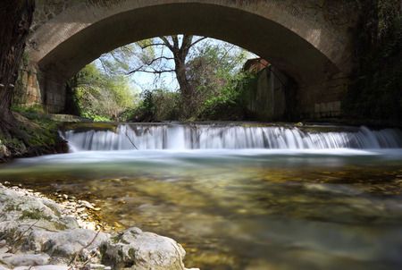 rieti: View of the river Farfa Sabina in the province of Rieti, Lazio, Italy