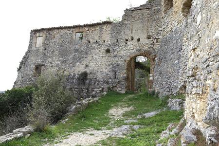 Ancient ruins in the village of Rocchette di Torri, Rieti, Lazio, Italy Stock Photo