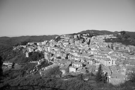 lazio: View of the town of Tolfa, Lazio in Italy