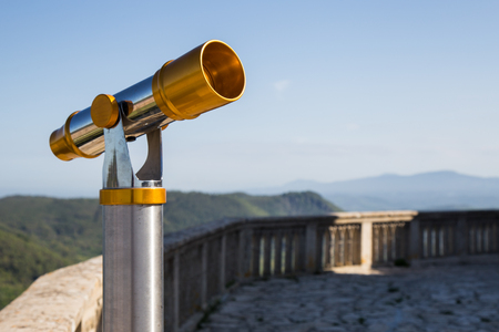 the watcher: Telescope for viewing the surrounding landscape