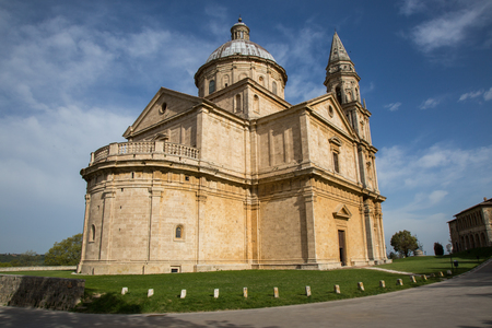 Ancient Christian Church located in Montepulciano Stock Photo