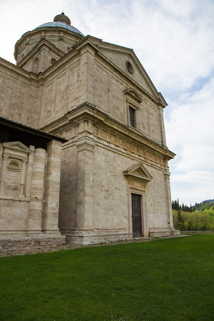 montepulciano: Ancient Christian Church located in Montepulciano Stock Photo