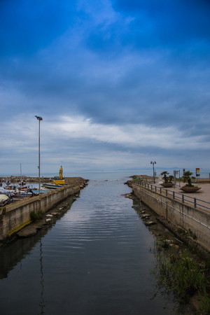 turbidity: Channel that flows to the sea in Follonica