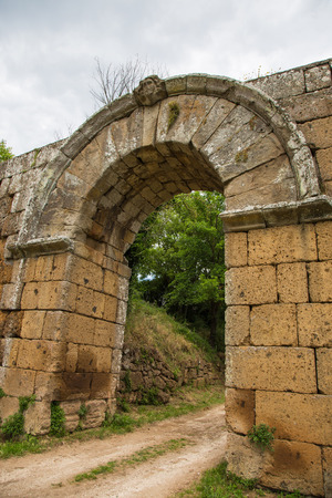 archaeological: Entrance arch within the walls of Falerii Novi Editorial