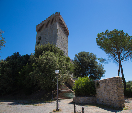 Former defensive tower or guard do in Castiglione del Lago