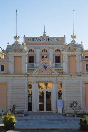 the magnificent: The historic grand hotel in Fiuggi the facade views Editorial