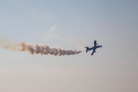 Tirrenia, Pisa, Italy September .11 2016. Air Show of Pisa Italian aerobatic team Frecce Tricolori exhibition ... on the seafront of Tirrenia Pisa at the Air Show. Ivano De SantisAlamy Live News. Editorial