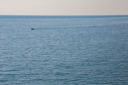 Boat returning after fishing in Vieste