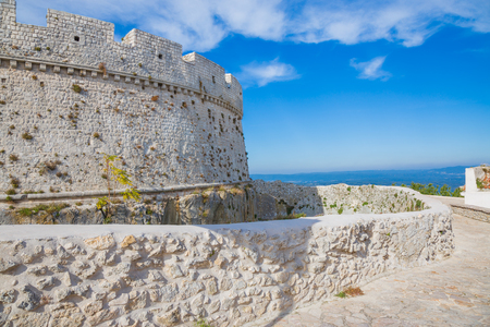 Partial view of the castle in Monte SantAngelo, Gargano.