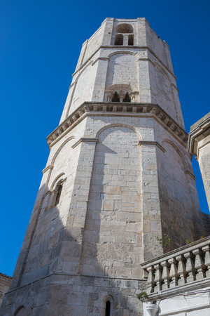 Bell tower of the church of San Michele Stock Photo