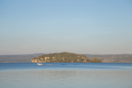 marta: The only Martana on Lake Bolsena and a fisherman who passes with his boat.