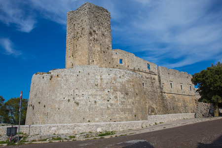 bastion: Partial view of the castle in Monte SantAngelo, Gargano.