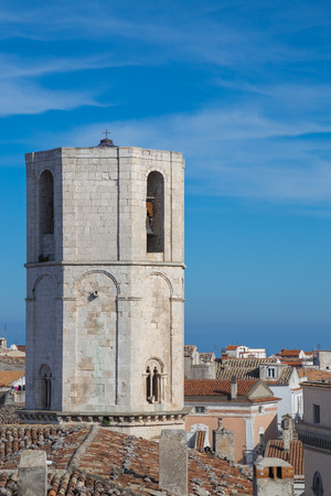 View of the steeple of the church of San Michele in Monte SantAngelo Stock Photo