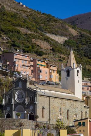 john the baptist: Church of St. John the Baptist of Riomaggiore in Cinque Terre in Liguria, Italy